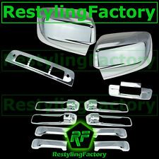09-15 Dodge Ram Chrome Mirror no Light+4 Door Handle+Tailgate+3rd Brake Cover