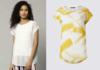 M&S Marks Spencer Women Viscose Round Neck Short Sleeve Blouse T Shirt Top 8 -24