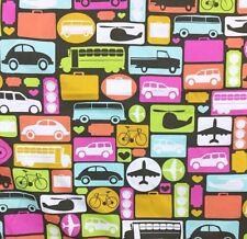 Timeless Treasures Fabric Fun-C8450 6 Yards Transportation Travel Discontinued