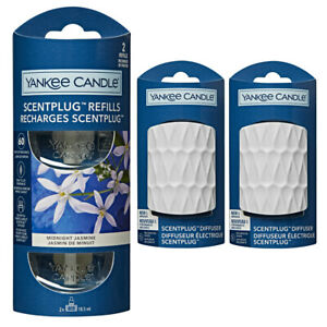 YANKEE CANDLE Scent Plug In Air Freshener 2 x WHITE plugs and 2 Refills (1 TWIN)