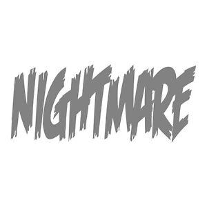 Nightmare Sticker - Horror Nightmare Decal - Choose Color Size