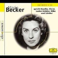 MARIA BECKER - MARIA BECKER SPRICHT GOETHE,KLEIST,RILKE,U.A  CD NEW