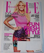 Elle Canada Magazine July 2012 Carrie Underwood Sarah Polley Jason Wu