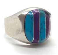 Vintage Sterling Silver Ring 925 Size 10 Signet Modernist Taxco Mexico