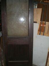 Antique glass door.