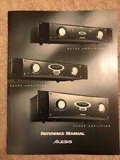 Alesis Reference Manual RA150 RA300 RA500 Amplifier Original Vintage