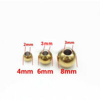 100PCS 4MM/6MM/8MM STAINLESS STEEL GOLD ROUND SPACER BEADS JEWELRY LOOSE STOPPER