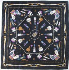 Magnífico Pañuelo poliéster EN BUEN ESTADO vintage 87 x 89 cm