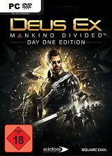 Deus Ex: Mankind Divided Steam PC CD-Key Download Key, keine CD/DVD