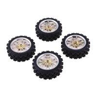 4 pezzi pneumatici in gomma set cerchi in lega per rc 1:10 rally racing hsp