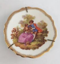 Very Lovely Vintage 60's Limoges Miniature Courting Couple 4� Plate It/409
