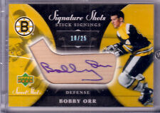 BOBBY ORR 06/07 UD SWEET SHOT SIGNATURE SHOTS STICK SIGNINGS AUTO SSP 18/25
