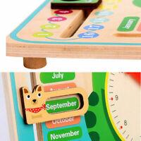 Wooden Calendar Clock Educational Weather Season Toys Learning For Kids N9I G4N1