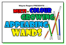 MULTI COLOR GROWING APPEARING WANDS 5 Set Magic Trick Production Roger 8 FT Pole