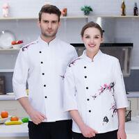 New Chef Coat Comfort Restaurant Cook Long Sleeve Workwear Bakery Uniform Zhou88