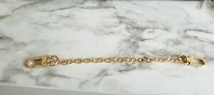 Swivel Hook Chain Extender for Louis Vuitton Bag Wristlet Extension 8in GOLD