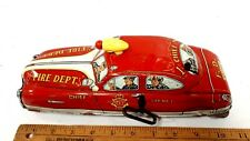 1950's MARX - Fire Chief - Wind Up/Siren - Roof Light - Great Original Condition
