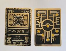 Pokemon Ancient Mew Black Gold Metal Custom Card