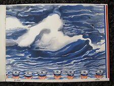 lithographie originale signée Henri Cueco la vague 2008 Christophe Penot