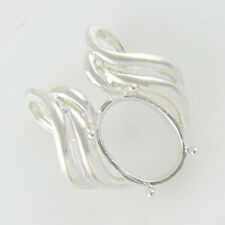 PRENOTCHED 16X12 OVAL PENDANT IN STERLING SILVER CP5049SS