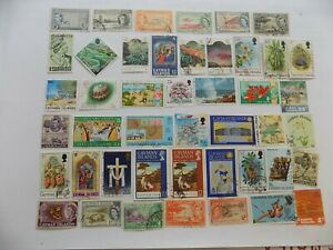 Cayman Islands Great Britain collection of used stamps off paper-4-P-8