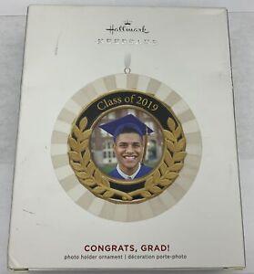 Hallmark Keepsake 2019 Congrats, Grad! Porcelain and Metal Photo Frame Ornament