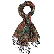 78118 LORENZO CANA - Marken Herren Wollschal Schal Seide Wolle Paisley Violett