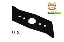 9X Vertikutierer Messer für Wolf Garten UV 28 30 32 34 EV EL E B / Asgatec 1100