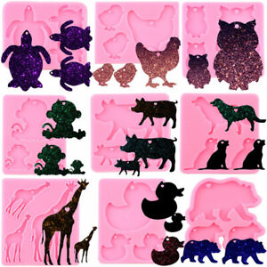 Animals Family Keychain Silicone Resin Mold Sea Turtle Pendant Epoxy Resin Molds