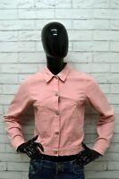 Giacca Donna LIU JO Taglia Size S Giubbino Jacket Woman Rosa Pink Slim Elastico