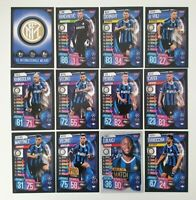 2019/20 Match Attax UEFA Soccer Cards - Inter Milan Team Set inc shiny (12 cards