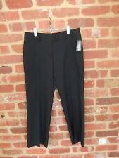 Bongardi Ladies Size 16 Low Rise Slim Pants Charcoal Stripes Work Corporate Wear