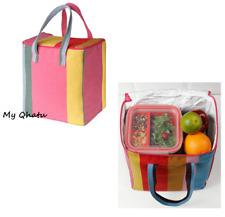 "Ikea Lunch Bag Summer Picnic Lunch Bag Box Stripe 9x7x9 ¾ "" Alsopp"