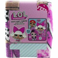 "LOL Surprise Fleece Plush Silky Soft Throw Blanket for Girls 40"" x 50"""