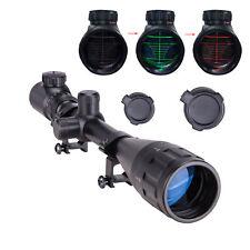 Rifle Scope 6-24X50mm R & G Illuminated Mil-dot Optics Hunting w. Mount