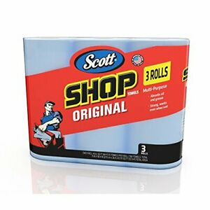 Scott Blue Shop Towels Paper Towel 3PACK 55 towels each roll FREE SHIPPING