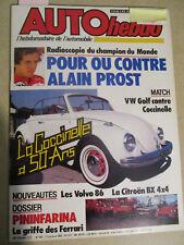 AUTO HEBDO: n°493: 17/10/1985: LA COCCINELLE A 50 ANS - GOLF GLI CAB - BX 4TC -