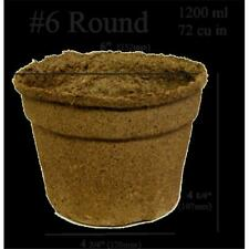 CowPots 6 in. Round Pot 1200 ml - 72 Cubic Inch