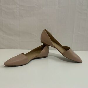 Naturalizer Womens New Tamara Flat Taupe Leather Slip On Shoes Item # 430277