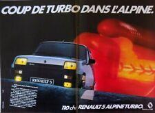 Publicité de presse (clipping) - Renault 5 alpine turbo