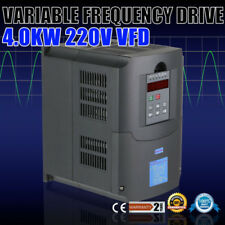 4kw Vfd variateur de Fréquence Ratting Closed-loop AVR technique 1 Or 3 PHASE