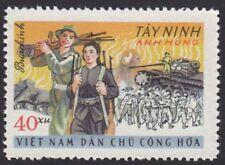 North Vietnam War Propaganda stamp Victories Insurgents Tay Ninh destroyed armor