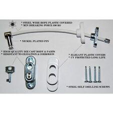 Penkid Ventana/Puerta Restrictor Niño Seguridad en el hogar con llave cable-Negro