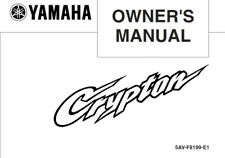YAMAHA CRYPTON T105E T105SE OWNERS MANUAL JUL 2003 EDITION REPRINTED COMB BOUND