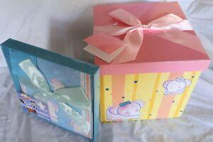 Folded Gift Box Ribbon Present Birthday Party Christmas Kids Children Bag