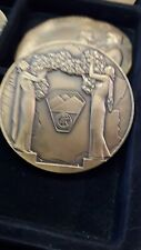 France - M. Delannoy bronze art medal Woman and Wreath  #134