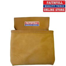 LEATHER NAIL AND TOOL POUCH SINGLE POCKET HOLDER WITH BELT LOOP,FAITHFULL FAINP1