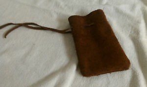 Rune Pouch Runecrafting Brown Leather DRAWSTRING MONEY POUCH BAG