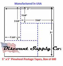 5X5 Pinwheel Postage Meter Tapes Pitney Bowes Hasler Neopost  Francotyp Postalia