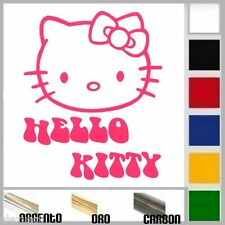 adesivo sticker HELLO KITTY prespaziato, auto,moto,casco